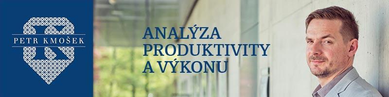 Analýza produktivity firmy, práce, výkonu zaměstnanců